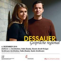 """Zu Gast bei den """"DESSAUER Gesprächen - regional"""" waren die freiberuflichen Architekten Siverin Arndt-Krüger (Zeitform >< Architekten) und Guido Großmann (Großmann Architektur)."""