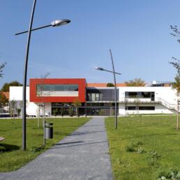Fachhochschule Polizei des Landes Sachsen-Anhalt, Mensa / Hörsaalgebäude, Haus 7, Aschersleben