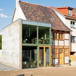 Fachwerkhaus, Sanierung und Erweiterung, Aschersleben