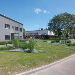 KSB, Betriebsrestaurant, Außenanlagen, Halle (Saale)