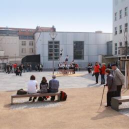 Platz vor dem Sport- und Kurshaus Kurt Elster (SPUK), Dessau-Roßlau