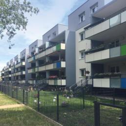 Wohnblock, Teilrückbau und Umbau zu familiengerechtem Wohnen, Halle (Saale)